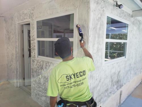 Skyeco Group Window Specialists installing windows