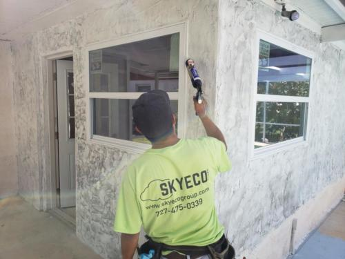 Skyeco Group Window Specialists installing windows